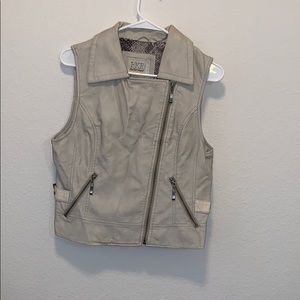Tan vest with snakeskin details